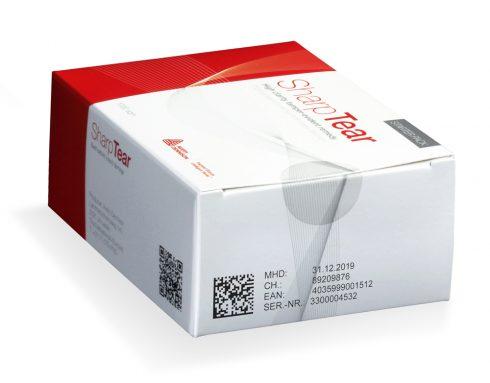 drug packaging with tamper evident label