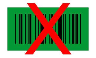 Barcode schwarz auf grün