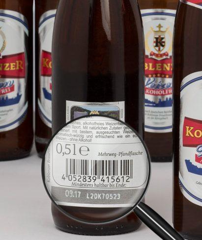"""Auf Getränkeflaschen sieht man häufig im Zusammenhang mit der Füllmengenkennzeichnung ein """"e"""" hinter der Nennmenge."""