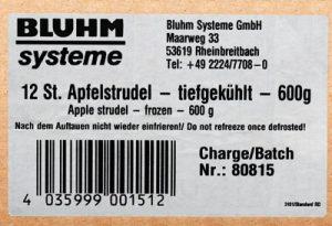 Weißes Kartonetikett mit Adresse und Barcode (EAN Code)