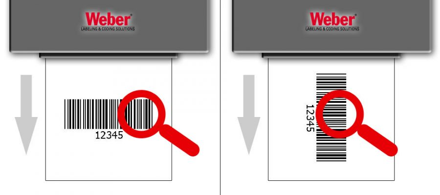 Two barcode labels in different positions (image 1)