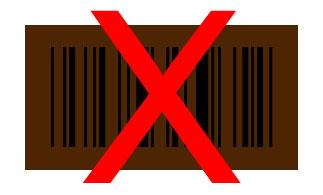 Barcode schwarz auf braun