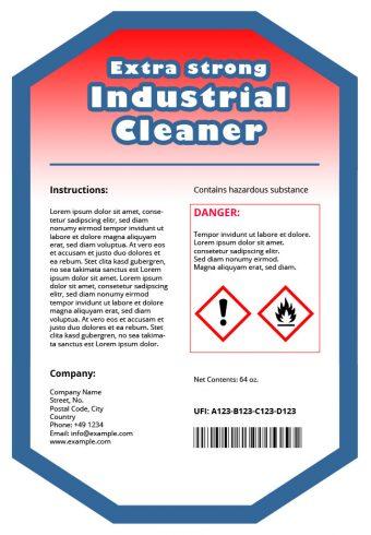 Product label with Unique Formula Identifier (UFI)