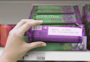 food-grade inkjet marking on chocolate bar