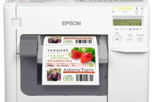 Label printing with Epson color label printer