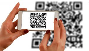 scanning a qr code with a smartphone