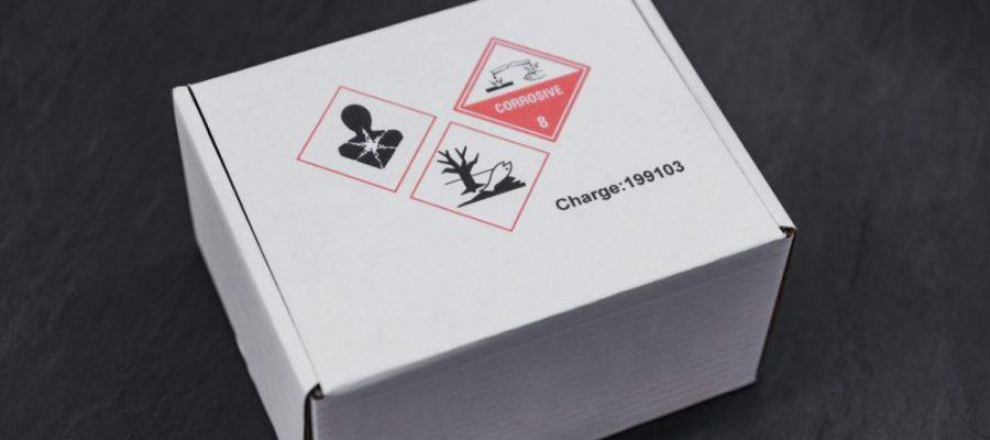 Marquage jet d'encre des symboles de danger