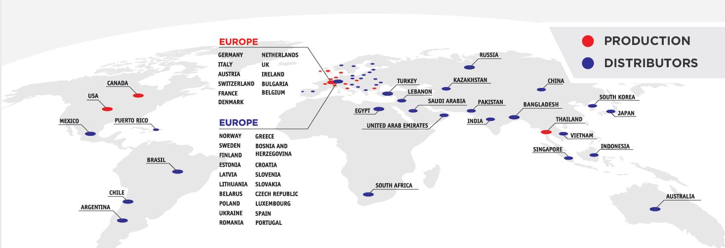 Weber partner map
