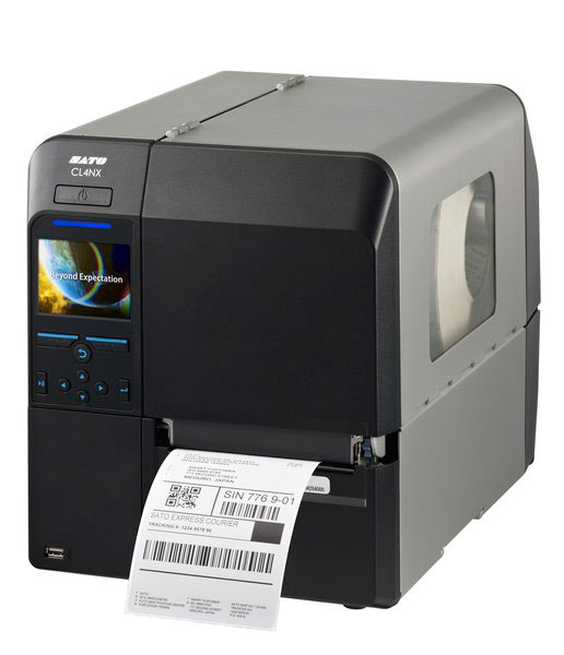 Black Sato label printer from Weber Marking Systems